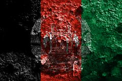Old Afghanistan grunge background flag.  Stock Photos