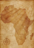 Old Africa map illustration Royalty Free Stock Photos