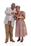 Old african couple tablet Stock Images