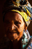 Old African Woman. Portrait headshot Stock Image