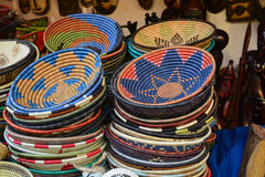 Old African household vessels - colorful Stock Image