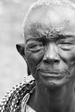Old African lady. Portrait of an old African lady. Editorial use only royalty free stock photo