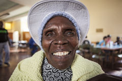 Old African Lady Portrait Stock Photography