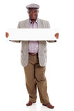 Old african man banner Stock Photography
