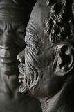 Old african man face. Couple portrait of ethnic faces royalty free stock image