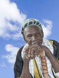 Old African man wearing traditional clothing Stock Photography