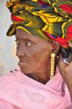 Old african women with turban Royalty Free Stock Photo