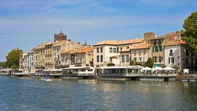 Old Agde on the Heralt River Stock Photography