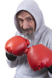 Old age boxing Royalty Free Stock Image