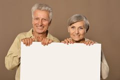 Old age couple Stock Images