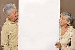 Old age couple holding Royalty Free Stock Photos