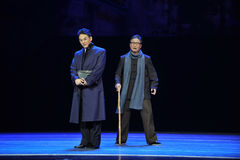 Old age-Jiangxi OperaBlue coat Royalty Free Stock Photo