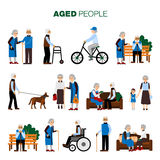 Old Age People Set Stock Images