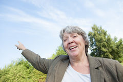 Old age woman smiling Royalty Free Stock Image
