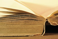 Old aged book close up Royalty Free Stock Photos