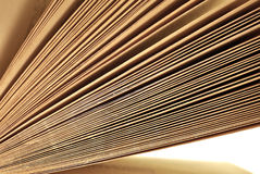 Old aged book pages close up Stock Images