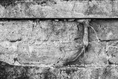 Old and aged brick and concrete wall Royalty Free Stock Photography