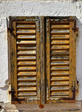 Old aged closed wooden window Royalty Free Stock Image