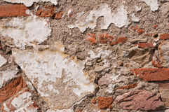 Old Aged Destroyed Brick Wall royalty free stock image
