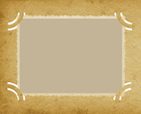 Old Aged Horizontal Edge Photo In Grunge Textured Vintage Retro Album, Blank Empty Photograph Portfolio Page Background, Stained Royalty Free Stock Images