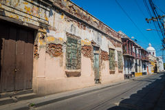 Old aged houses, Santa Marta, caribbean city in Royalty Free Stock Photo