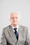 Funny man portrait real people high definition grey background stock image