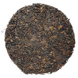 Old aged raw sheng puerh tea cake isolated Stock Photo