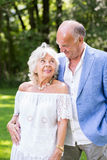 Old aged romance Stock Image