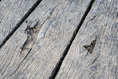 Old aged wood planks in perspective Stock Photo