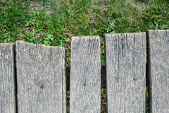 Old aged wood planks in perspective Royalty Free Stock Image