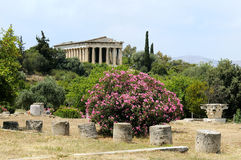 Old agora in Athens. Archaic ruins in Greece Royalty Free Stock Photography
