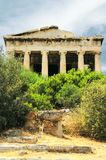 Old agora in Athens. Archaic ruins in Greece Stock Images