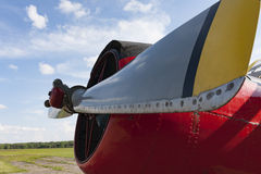 Old agricultural aircraft. Details  Stock Photo