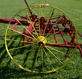 Old Agricultural Machine. Pulled by a horse, this agricultural machine was used to plow the soil in Ontario, Canada in the early 1900's Royalty Free Stock Image