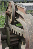 Old agricultural machine - detail Stock Images