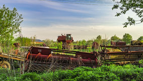 Old agricultural machinery Stock Image