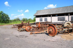 Old agricultural mechanisms Royalty Free Stock Photography