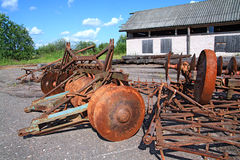 Old agricultural mechanisms Stock Photos