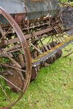 Old Agriculture Machinerie. Antiquated abandoned agricultural harrower antique farm equipment Royalty Free Stock Image