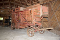 Old agriculture machinery at the German Museum at Frutillar, Chile Stock Images