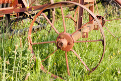 Old agriculture machinery outdated technology. Concept royalty free stock image