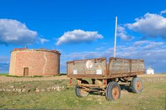 Old agriculture trailer Royalty Free Stock Photography
