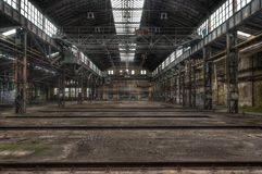 Old ailing Lost Place in East Germany Stock Photo