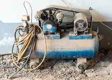 Old air compressor Stock Photography