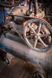 Old  air compressor Royalty Free Stock Images