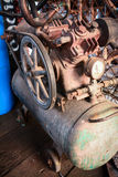 Old  air compressor Royalty Free Stock Photo
