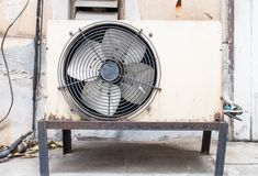 Old air compressors Royalty Free Stock Photo