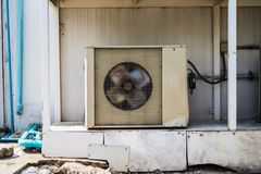 Old Air condition compressor cooling machine. Very old Air condition compressor cooling machine Stock Photos