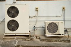 Old air conditioner compressor Royalty Free Stock Photos