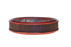 Old air filter. Royalty Free Stock Photography